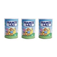 Bộ 3 Lon Sữa bột France Lait số 3 (900g) - Dinh dưỡng cho trẻ từ 1 -3 tuổi