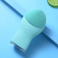 Máy rửa mặt mini massage tích hợp sóng âm HT SYS -TL703 - Facial Cleansing & Massaging Device - Massage - Làm Sạch Sâu - Tẩy Tế Bào Chết - Nâng Cơ Kháng Khuẩn