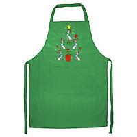 Tạp Dề Làm Bếp In Hình Poodle Christmas Ornament Tree Funny Dad Mom Kids Gift- Hàng Cao Cấp
