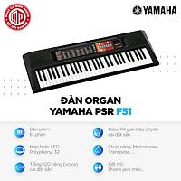 Đàn Organ Yamaha PSR F51 - Màu đen - Hàng chính hãng