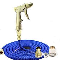 Bộ vòi phun xịt nước rửa xe , tưới cây giãn nở đầu đồng loại 10m - bộ dây và vòi rửa xe chăm sóc cây cảnh 206703-1
