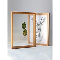 Khung ảnh để bàn học, khung hình để bàn làm việc, kệ tủ gỗ thông phong cách mới thiết kê Hàn Quốc trang trí nội thất độc đáo KA-025