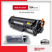 Hộp mực 12A/303 / Cartridge 12A dùng cho máy in (HP 1020 ,3050, 3055, 1319,1010 ,1018 Canon 2900,3000...) Có lỗ đổ/xả mực - NO BOX