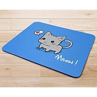 Miếng lót chuột mẫu Chú mèo nền xanh