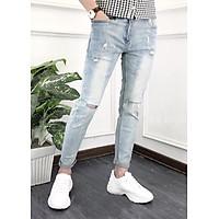 Quần jean dài nam rách - B963