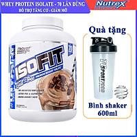 Combo Sữa tăng cơ giảm mỡ cao cấp ISOFIT của Nutrex hộp 70 lần dùng hỗ trợ tăng cơ, giảm cân, đốt mỡ cho người tập GYM & Bình shaker 600ml (Mẫu ngẫu nhiên)