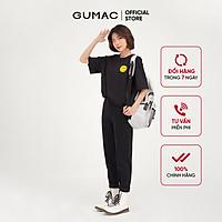 Quần baggy jean nữ chạy gân GUMAC phong cách unisex năng động QJB4103