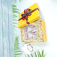 Combo hộp quà tặng sinh nhật 23x17x7cm tặng thiệp + giấy rơm lót + túi quà - HQ06