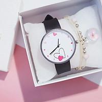 Đồng hồ thời trang nữ mặt trái tim dễ thương dây silicon mềm mại ZO35