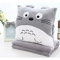 Bộ Mền Gối Ngủ Totoro Vuông - Tặng Kèm Cây Massage Đầu - Quà Tặng Ý Nghĩa Chăn Gối Văn Phòng Tiện Lợi
