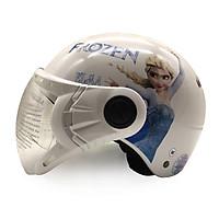 Mũ Bảo Hiểm Trẻ Em 1/2 Đầu Có Kính Protec Kitty Họa Tiết Nữ Hoàng Băng Giá Frozen Thời Trang, An Toàn, Chất Lượng - Hàng Chính Hãng