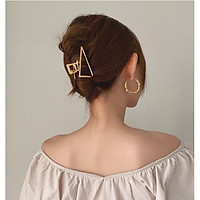 Kẹp tóc kim loại tam giác trang trí tóc phong cách Vintage