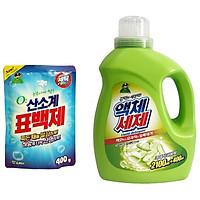 Gel giặt Sandokkaebi đậm đặc Hàn Quốc bằng một phần hai so với bột giặt thông thường 2.5l tặng gói bột giặt phụ trợ hàn quốc siêu sạch