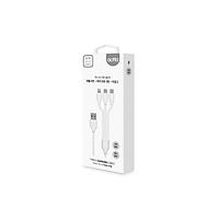 Cáp sạc đa năng 3 trong 1 Tripple Charging Cable Actto USB-38 - Hàng chính hãng