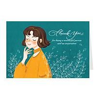 Thiệp cảm ơn (thank you) - thiệp Greenwood Premium (276)