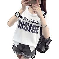 Áo thun nữ inside thương hiệu T&D màu trắng