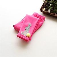 Quần legging cho bé gái 3-9 tuổi cạp hình thỏ cute – Q011