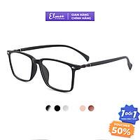 Gọng kính cận nam nữ mắt chữ nhật Elmee chất liệu nhựa dẻo, màu sắc trẻ trung năng động dễ đeo - E8087