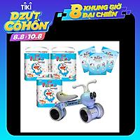 Combo 3 gói tã quần Goon Friend L46 cộng miếng tặng xe chòi chân con ong phát đèn nhạc VBCare 052