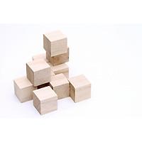 Combo 10 cục gỗ thông tự nhiên khối gỗ vuông làm thủ công handmade, vẽ hoặc đồ chơi (4x4x4cm)