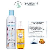 Combo xịt khoáng Evoluderm 400ml và dầu tẩy trang tinh chất hạnh nhân Evoluderm 150ml