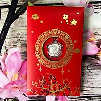 Bao Lì Xì Dây Chuyền hình con chuột Mạ Kim Loại Bạc - Là quà tặng người thân và bạn bè mang lại ý nghĩa Cầu chúc cho một năm mới An Lành-Thịnh Vượng May mắn và Luôn Luôn Khỏe mạnh - TMT Collection - MS282
