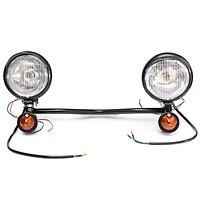 Headlight Passing Spotlight Assembly Spot Fog Light Bar Turn Signals Bracket Set