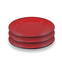 Bộ 3 Dĩa (Đĩa) 10 cạn trơn An Toàn Sức Khỏe Nhựa Xanh Melamine A6010 DDEA3