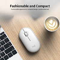 Chuột Không Dây Bluetooth Logitech Pebble 2.4GHz Wireless Bluetooth Dual-mode Mouse Ergonomic Mute Mouse Plug and Play for PC Laptop