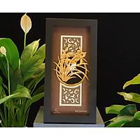 Tranh hoa lan dát vàng 24k mẫu 03 (13x26cm) MT Gold Art- Hàng chính hãng, trang trí nhà cửa, phòng làm việc, quà tặng sếp, đối tác, khách hàng, tân gia, khai trương