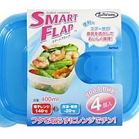 Hộp nhựa đựng thực phẩm Smart Flap 400mlx4