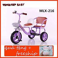 xe đạp xích lô xe đạp đôi 2 ghế cho bé từ 1 đến 6 tuổi - ( xả kho tri ân tặng kèm 1 khăn mặt xuất)