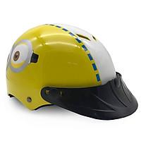 Mũ Bảo Hiểm Trẻ Em Nửa Đầu Không Kính Protec Kitty, An Toàn, Siêu Nhẹ, Siêu Thoáng Khí, Họa Tiết Minion - Hàng Chính Hãng