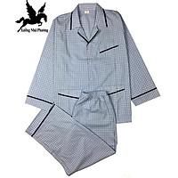 Đồ bộ nam pijama sọc kẻ vải chất vải cotton 100%