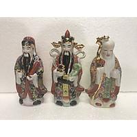 Bộ tượng sứ Tam Đa phúc lộc thọ bằng sứ bộ cao 30cm