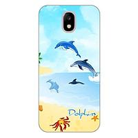 Ốp lưng dẻo cho Samsung Galaxy J7 Pro _Dolphins 01