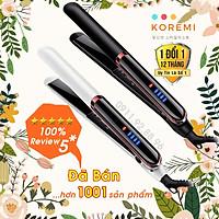 [Chính Hãng] Máy ép duỗi tóc, là tóc, uốn xoăn tóc Hàn Quốc Koremi NA-8868 cao cấp [2 in 1] Trắng Đen