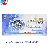 Hộp 20 cây bút bi bấm 0.8mm Thiên Long - TL08 màu xanh