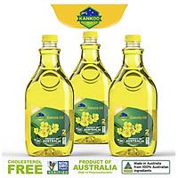Combo 3 chai dầu ăn hạt cải nguyên chất Kankoo 2L nhập khẩu chuẩn Úc