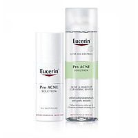Eucerin Combo Kem Dưỡng Giảm Mụn Proacne A.I Matt Fluid Và Tẩy Trang Cho Da Nhờn ProAcne 200ml