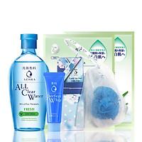 Bộ chăm sóc da Senka (A.L.L.Clear Water Fresh 230ml+ Perfect Aqua White Mask – Soothing White 25ml+ Senka Perfect Whip 50g+ lưới tạo bọt)