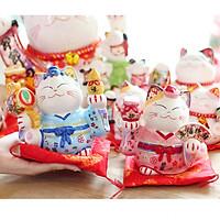 Cặp Mèo Thần tài Tân Lang - Tân Nương 15cm
