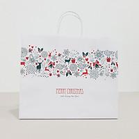 Túi giấy Kraft Trắng Noel Xmas- Size 36 x 30.5 x 12cm [COMBO 10 cái] Mã XMAS08T