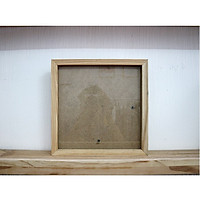 Khung hình gỗ thông - Size 25x25cm khổ vuông - Tiệm Khung PT