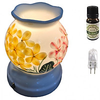 Combo tinh dầu sả chanh Eco oil 10ml cùng đèn xông tinh dầu MNB35 và 1 bóng đèn