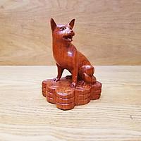 Linh vật tượng con chó gỗ hương
