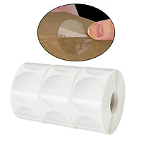 3 Rolls 3000 Pieces Clear Stickers Retail Package Seals, 2.5cm Transparent Seal Labels Adhesive Stickers Round Envelope Box Gift Packaging Stickers