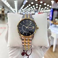 Đồng hồ pin, đồng hồ nam dây kim loại 1130SA full box, kinh sapphire chống xước, chống nước