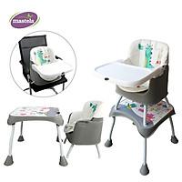 Ghế ăn dặm đa năng 3 in 1 cho bé Mastela 1016 - ghế ăn cao, ghế ăn thấp, bàn ghế tập vẽ thông minh cho bé từ 6 tháng - Tiêu chuẩn Châu Âu - tặng áo yếm Mastela