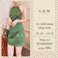 Đầm yếm lụa xanh lá Floren Dress Gem Clothing SP001105